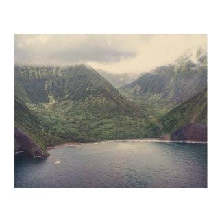 Quadro De Madeira Impressão de madeira escondido de Havaí