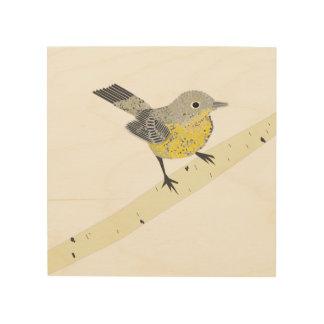 Quadro De Madeira Impressão do pássaro na madeira
