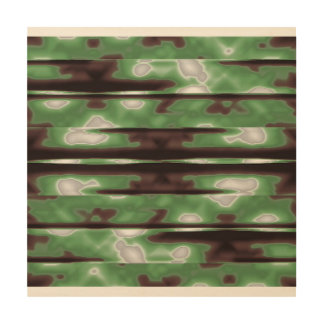 Quadro De Madeira Impressão do teste padrão de Camo das listras