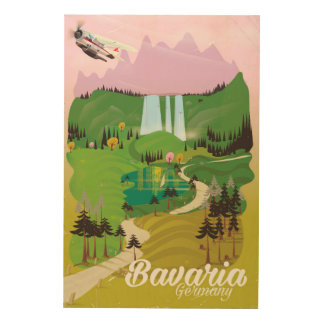 Quadro De Madeira Impressão do viagem da paisagem de Baviera