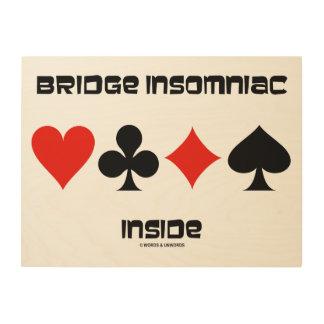 Quadro De Madeira Insomniac da ponte dentro de um humor de quatro