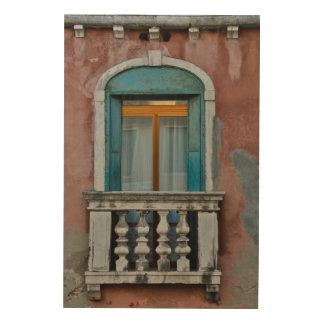 Quadro De Madeira Janela em Veneza