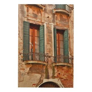 Quadro De Madeira Janela na construção de Veneza