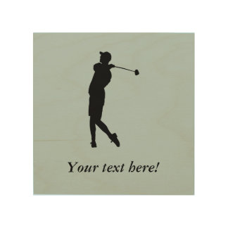 Quadro De Madeira Jogador de golfe