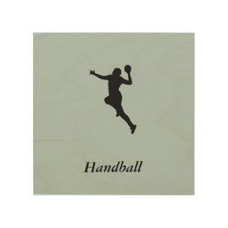 Quadro De Madeira Jogador do handball