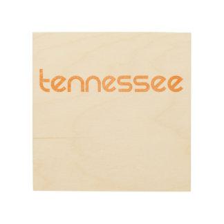 Quadro De Madeira Laranja de Tennessee