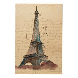Quadro De Madeira Letras de Eiffel
