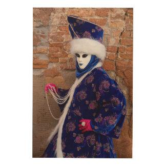 Quadro De Madeira Levantando no traje do carnaval, Veneza