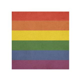 Quadro De Madeira Listras do arco-íris
