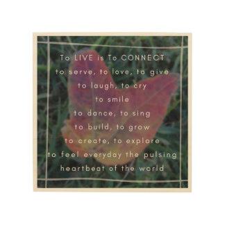 Quadro De Madeira LIVE é CONECTAR o poema e a foto