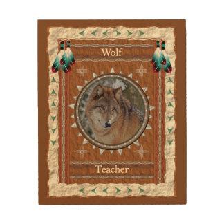 Quadro De Madeira Lobo - canvas da madeira do professor