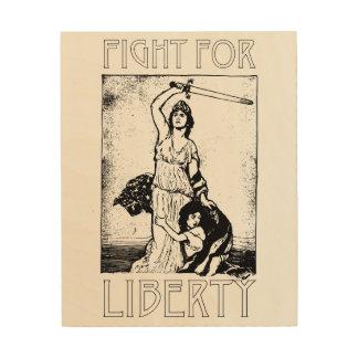 Quadro De Madeira Luta para a liberdade! Senhora Liberdade com