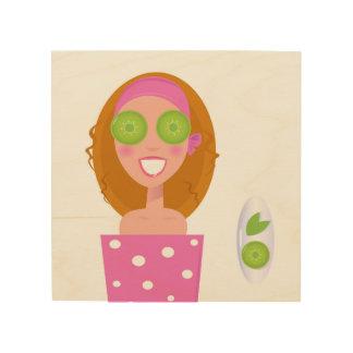 Quadro De Madeira Madeira com ilustração/menina original