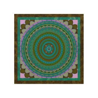 Quadro De Madeira Mandala da meditação