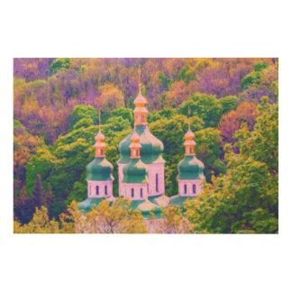 Quadro De Madeira Monastério de Vydubitsky. Kiev, Ucrânia
