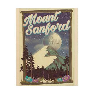 Quadro De Madeira Montagem Sanford Alaska