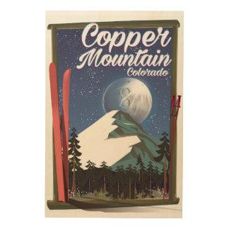 Quadro De Madeira Montanha do cobre do poster de viagens de Colorado