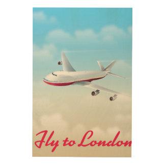 Quadro De Madeira Mosca ao poster do plano de Londres