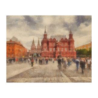 Quadro De Madeira Moscovo, Rússia, quadrado de Manezhnaya