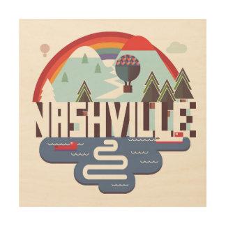 Quadro De Madeira Nashville no design