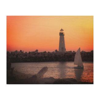 Quadro De Madeira Navigação no crepúsculo no porto de Santa Cruz