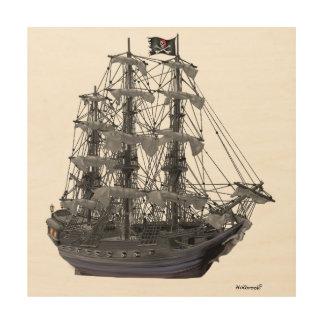 Quadro De Madeira Navio de pirata Mystical