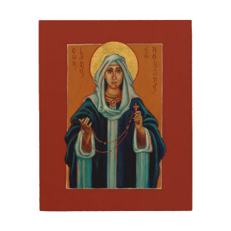 Quadro De Madeira Nossa senhora do ícone de madeira do impressão do