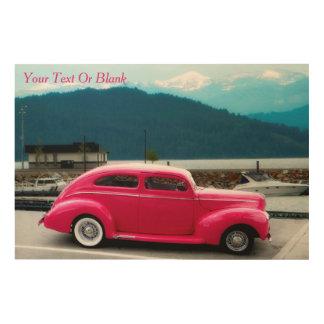 Quadro De Madeira O americano famoso do costume 1940 faz o sedan