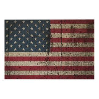 Quadro De Madeira Os Estados Unidos afligidos das bandeiras de país