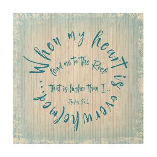 Quadro De Madeira Os salmos conduzem-me ao círculo do verso da
