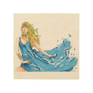 Quadro De Madeira Painel tirado mão da madeira do duende da água