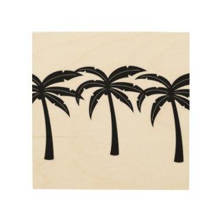 Quadro De Madeira Palmeiras tropicais