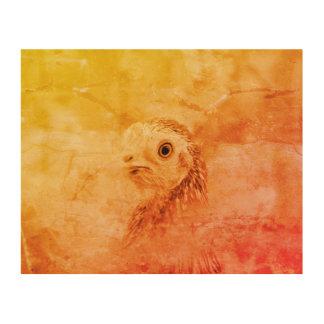 Quadro De Madeira Pássaro rústico