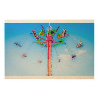 Quadro De Madeira Passeio alto do carnaval no impressão do céu