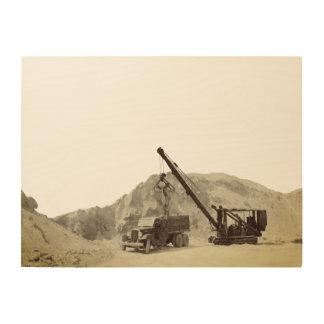 Quadro De Madeira Pedreira do guindaste do Speeder do caminhão da