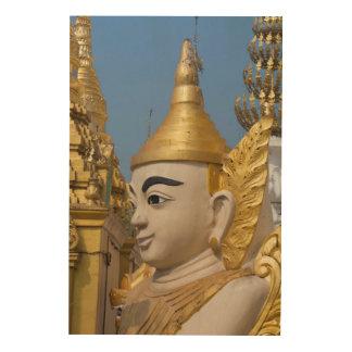 Quadro De Madeira Perfil da estátua de Buddha