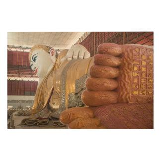 Quadro De Madeira Pés da estátua de Buddha