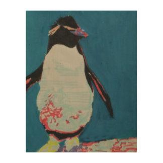 Quadro De Madeira Pinguim