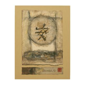 Quadro De Madeira Pintura chinesa da tranquilidade por Mauro