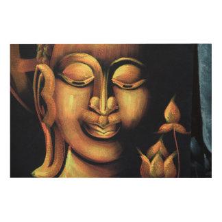 Quadro De Madeira Pintura de Buddha