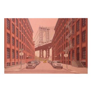 Quadro De Madeira Ponte de Manhattan