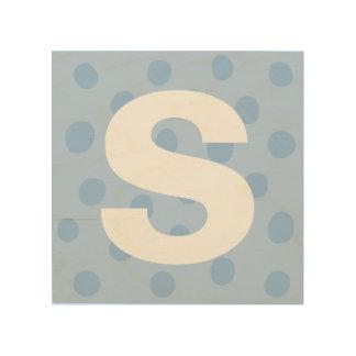 Quadro De Madeira Pontos azuis com a decoração da sala dos miúdos da