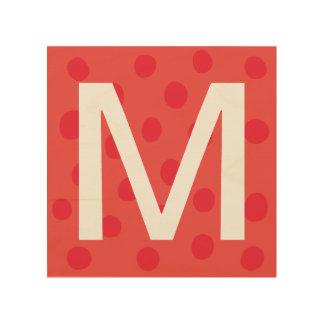 Quadro De Madeira Pontos vermelhos com a decoração da sala dos