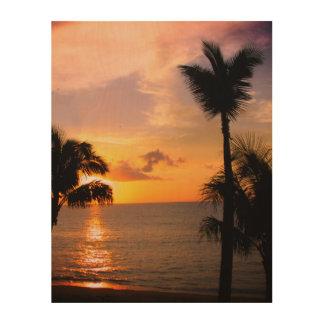Quadro De Madeira Por do sol de Maui