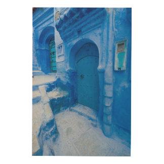 Quadro De Madeira Porta azul da cidade