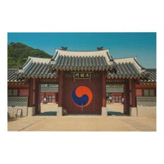 Quadro De Madeira Porta coreana do palácio