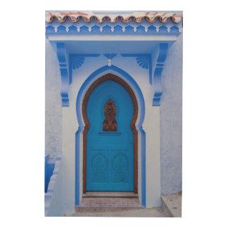 Quadro De Madeira Porta marroquina azul