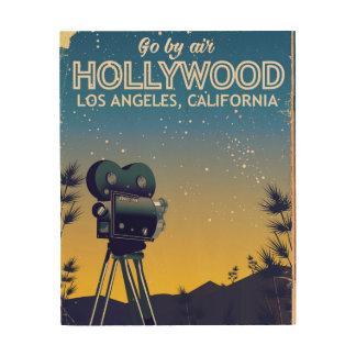 Quadro De Madeira Poster de viagens de Hollywood Los Angeles