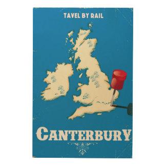 Quadro De Madeira Poster do trilho do vintage das ilhas britânicas