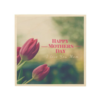 Quadro De Madeira Presente do dia das mães